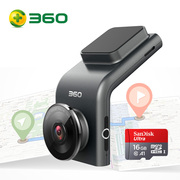 360 行车记录仪 G300P 远程监控 行车轨迹 迷你隐藏 高清夜视 无线测速电子狗一体 含16G存储卡