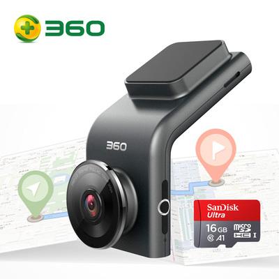 360 行车记录仪 G300P 远程监控 行车轨迹 迷你隐藏 高清夜视 无线测速电子狗一体 含16G存储卡产品图片1