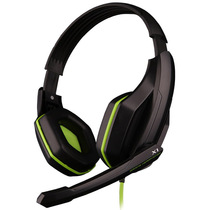 欧凡  X1 头戴式专业游戏电脑耳机耳麦 语音带麦克风话筒   黑绿色产品图片主图
