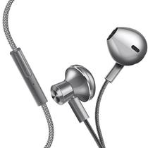 机乐堂(JOYROOM) 手机耳机 入耳式耳机 重低音 线控唛克风 尼龙线材 立体声音乐 苹果/华为等手机平板通用 E-01 钛空灰产品图片主图