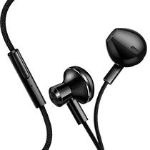 机乐堂(JOYROOM) 手机耳机 入耳式耳机 重低音 线控唛克风 尼龙线材 立体声音乐 苹果/华为等手机平板通用 E-01 亮黑色产品图片主图
