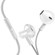 机乐堂(JOYROOM) 手机耳机 入耳式耳机 重低音 线控唛克风 尼龙线材 立体声音乐 苹果/华为等手机平板通用 E-01 亮白色