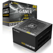 安钛克 HCG650 Gold 额定650W 模组电源(80PLUS金牌/全模组/十年质保/日系电容/电脑电源/吃鸡选择)