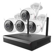 萤石 200万无线监控套装X5C 8路1T硬盘 4台1080P无线枪机监控摄像头 家用商铺工程