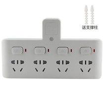 惠尔金 TF-234灯一转四带小夜灯带儿童保护门分控开关插座/转换插头/转换器产品图片主图