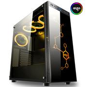 爱国者 月光宝盒影 黑色 钢化玻璃中塔机箱(支持ATX主板/RGB发光面板/支持280水冷排/配4只RGB风扇)