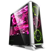 金河田 峥嵘R6白 游戏水冷DIY台式机PC电脑主机箱(ATX/M-ATX/ITX/长显卡/SSD/全侧透静音)
