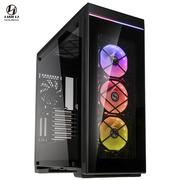 联力 黑色 ATX玻璃侧透机箱(四面钢化玻璃/同步光效RGB/8组PCI插槽/支持多水冷设备)ALPHA 550X