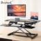 Brateck 站立办公升降台式电脑桌 笔记本显示器支架台办公桌 可移动折叠式工作台书桌DWS06-01黑产品图片1