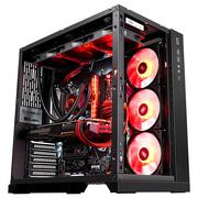 联力 包豪斯O11 黑 电脑机箱 高塔8槽/双U3+Type-c/双面玻璃/支持三面水冷及E-ATX服务器主板/双电源仓