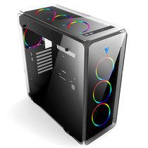 至睿 月光石 标准版 四面悬浮玻璃水冷机箱(双USB3.0/钢化玻璃/支持360水排/支持ATX主板)产品图片主图