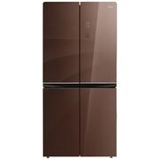美的  476升 玻璃面板 多维智能双变频风冷十字对开门冰箱 铂金净味 一级能效 BCD-476WGPM(E)伯爵咖