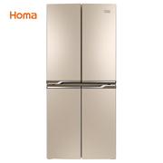 奥马  BCD-403DH/B 403升 变频节能 冷藏自除霜 双冻力 独立分储 电脑十字对开门冰箱 金色