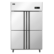 澳柯玛 860升商用四门厨房冰箱 立式全冷冻冰柜 不锈钢 饭店酒店冷柜 VF-860D4