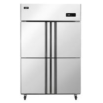 澳柯玛 860升商用四门厨房冰箱 立式全冷冻冰柜 不锈钢 饭店酒店冷柜 VF-860D4产品图片主图