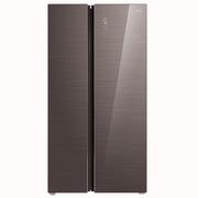 美的 598升  智能双变频风冷无霜对开门冰箱 玻璃面板 铂金净味 雷达感温   摩卡棕 BCD-598WKGPZM(E)
