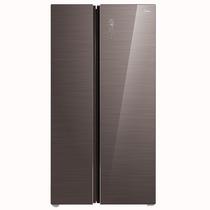 美的 598升  智能双变频风冷无霜对开门冰箱 玻璃面板 铂金净味 雷达感温   摩卡棕 BCD-598WKGPZM(E)产品图片主图