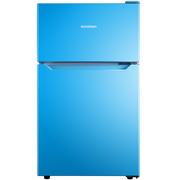 容声  92升 迷你彩色双门冰箱小型 深冷速冻 节能静音 迈锡尼蓝 BCD-92D11D