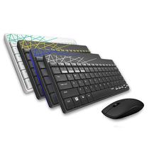 雷柏 8000M多模式无线鼠标套装黄色产品图片主图