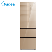 美的 311升多门智能家用冰箱抗菌保鲜冷藏冷冻玻璃面板变频无霜分区储存节能省电BCD-311WGPZME