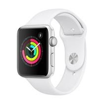 苹果 WatchSeries3智能手表GPS款42毫米银色铝金属表壳白色运动型表带MTF22CHA产品图片主图