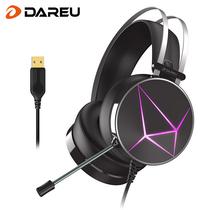 达尔优 dareuEH722RGB幻彩版耳机耳麦游戏耳机电脑耳机耳机头戴式头戴式耳机虚拟7.1声道产品图片主图