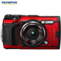 奥林巴斯 TG-6多功能运动相机防水防震防尘数码tg6照相机微距潜水户外旅游4K视频卡片机红色产品图片主图