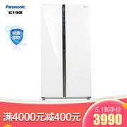 松下 570升大容量对开门冰箱0.1度调节银离子抗菌装置一键速冻玻璃面板NR-EW58G1-XW
