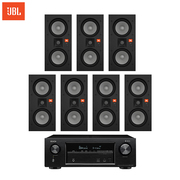 JBL Studio255IW+天龙X1500音响音箱家庭影院7.0声道功放嵌入式吸顶喇叭防潮蓝牙立体环绕声
